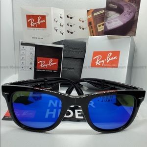 🔷[Blue Flash] RAYBAN Folding Wayfarer Men/Women